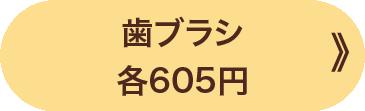 歯ブラシ 各605円 》
