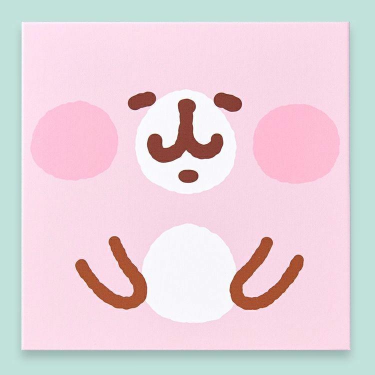 アートキャンバスパネル(フェイス/うさぎ)【ゆるっとストア オリジナル】